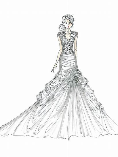 Coloring Pages Dresses Pretty Quinceanera Printable Getcolorings