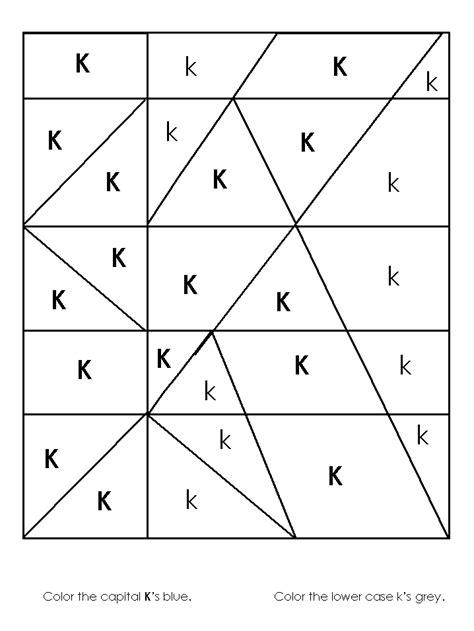 image worksheet alphabet recognition 339 | k as color1