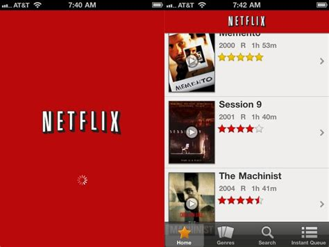 netflix app for iphone netflix app updated to support apple s iphone ipod touch