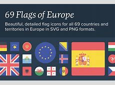 The Flags of Europe Icon Set Design Cuts