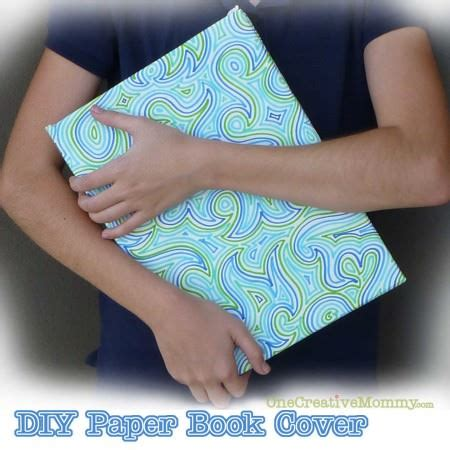 diy paper book cover onecreativemommycom