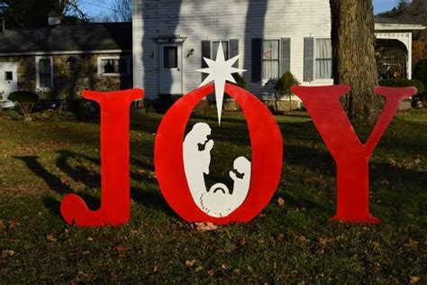 joy christmas nativity yard sign outdoor christmas yard