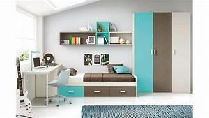Chambre Enfant Moderne : chambre moderne ado et fun avec lit 3 coffres glicerio so nuit ~ Teatrodelosmanantiales.com Idées de Décoration