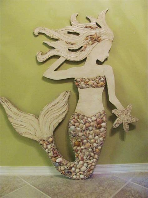 wall decor wall decor ideas awesome mermaid wall wooden for Mermaid