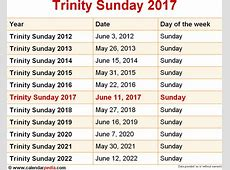 When is Trinity Sunday 2017 & 2018? Dates of Trinity Sunday