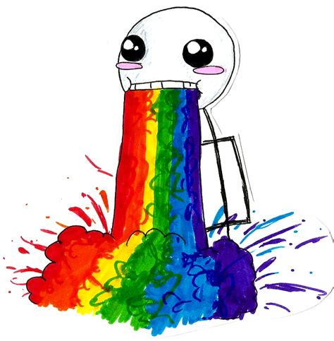 Drooling Rainbow Meme - the rainbow puke guy by mango soda 470 on deviantart