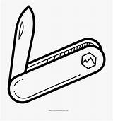 Knife Pocket Coloring Clip Cartoon Netclipart sketch template