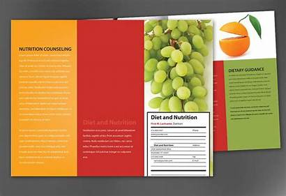 Brochure Nutrition Template Fold Tri Health Diet