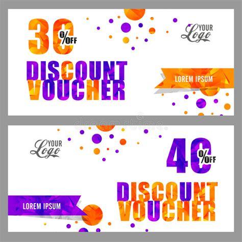 creative discount voucher  coupon design stock