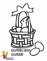 Easter Basket Coloring Egg Handsome Colour Boys Yescoloring sketch template