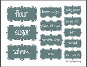 organize a baking cabinet with free printable pantry labels With kitchen cabinets lowes with name badge stickers