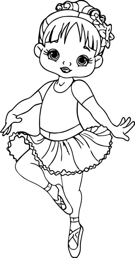 ballerina cartoon girl coloring page wecoloringpage