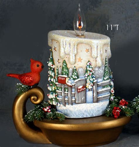 ceramic bisque ready  paint small christmas candle