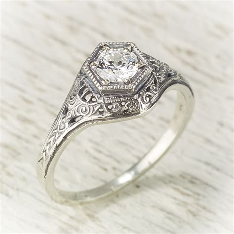 vintage filigree rings wedding promise