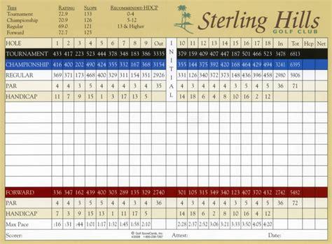 Scorecard Golf Scorecards Page 13