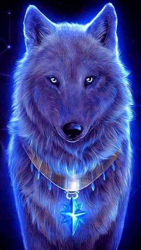 blue  red wolf wallpapers wolf wallpaperspro