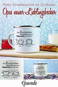 Geschenke Für Oma Weihnachten : emaille becher mit print f r opa ein tolles geschenk f r oma opa zum geburtstag oder zu ~ Orissabook.com Haus und Dekorationen