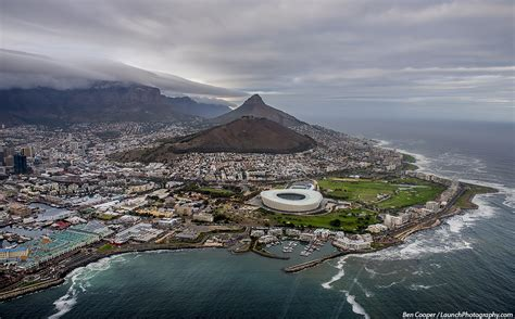 cape town   air aerial photo