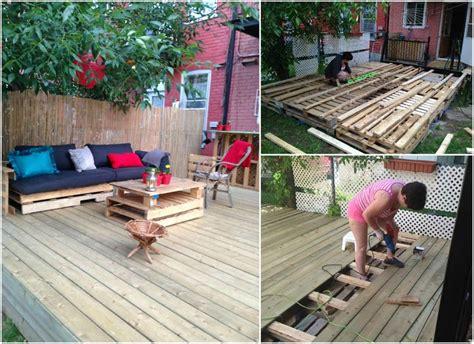outdoor deck    pallets pallet decking outdoor