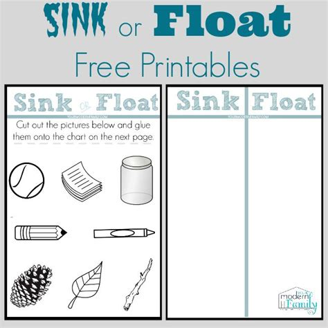 why do things sink or float sink or float chart