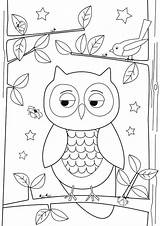 Owl Drawing Simple Coloring Pages Drawings Easy Draw Owls Sheet Designs Printable Colornimbus Sketch Template Paper Getdrawings sketch template
