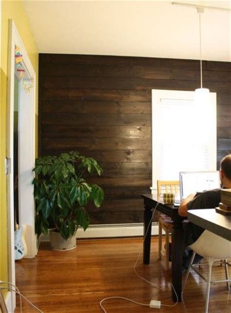 Shiplap Pine Wall Paneling by How To That Wood Wall Stained Shiplap Paneling For