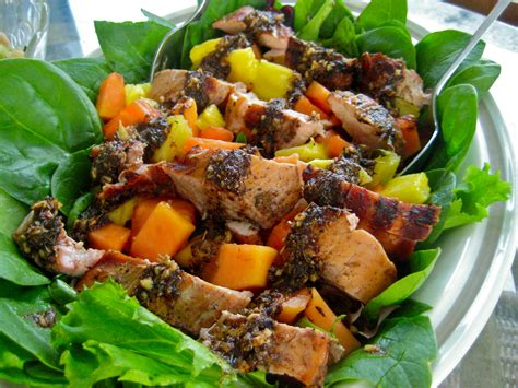 cuisine salade food recipe grilled pork tenderloin