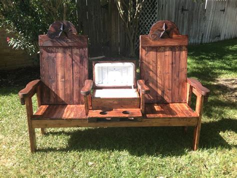 texasoutbackfurniture cedar cooler bench for two