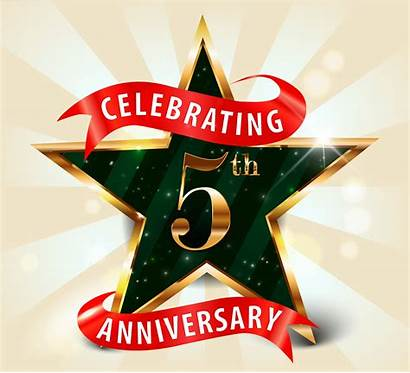 Anniversary 5th Celebration Celebrating Th