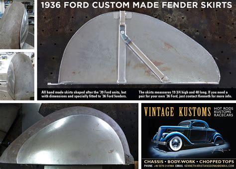 fender skirts bubble  flat custom car