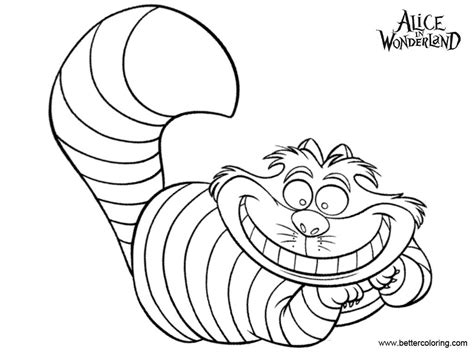 Alice In Wonderland Cheshire Cat Coloring Pages