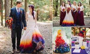 airbrushed wedding dress san diego matches every detail of sunset themed big day to airbrushed gown daily