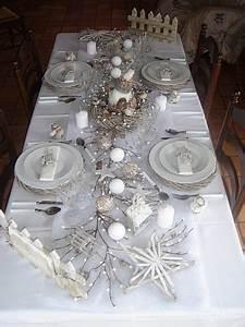 Table De Noel Blanche : ma d co de table pour no l ladecodekatia ~ Carolinahurricanesstore.com Idées de Décoration