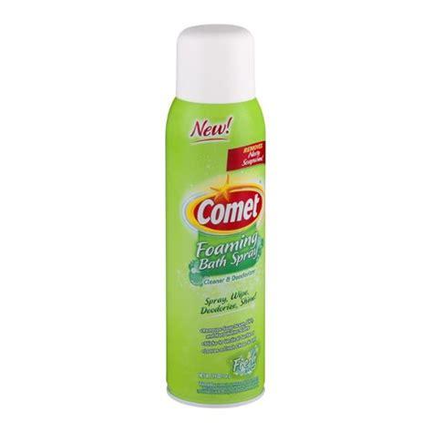 Comet Bathroom Cleaner Ingredients by Comet Foaming Bath Spray Cleaner Deodorizer Fresh Scent