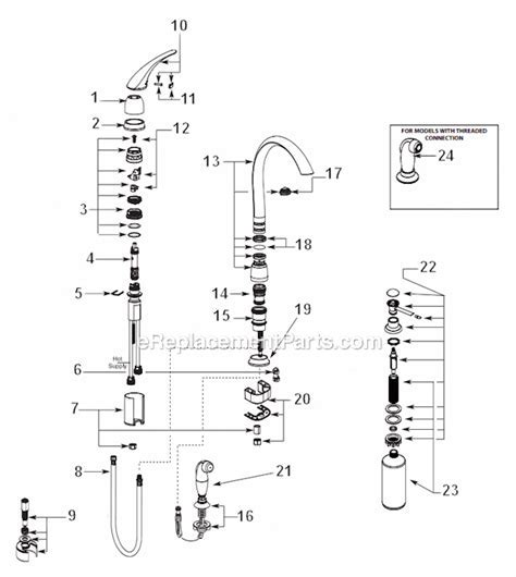 Moen 7730V Parts List and Diagram : eReplacementParts.com