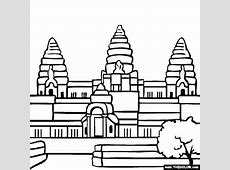 Black & White clipart hindu temple Pencil and in color