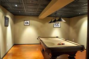 basement ceiling pictures With ceiling tile ideas for basement