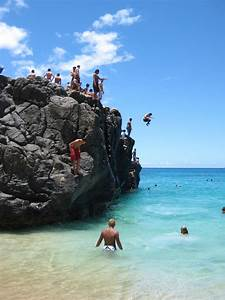 Waimea Bay, Ohau HI. I jumped off this rock on Christmas ...