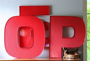 fab finds With plastic wall letters