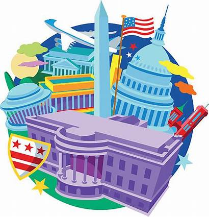 Lincoln Memorial Vector Washington Dc Clip Illustrations