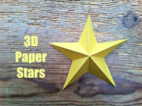 christmas crafts simple  paper stars youtube