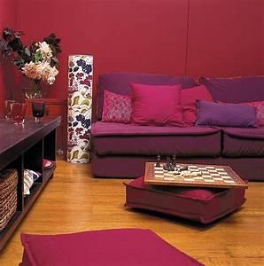 parquet e parete bordeaux per un ambiente caldo With clic parquet bordeaux