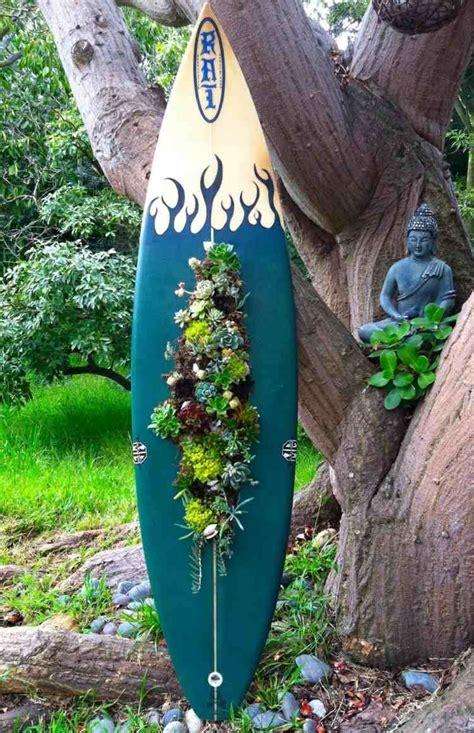 Garten Deko Buddha by Surfbrett Deko Aus Sukkulenten Vertikaler Garten Idee