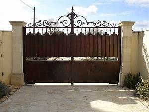 Portail Fer Forgé Plein : portail portillon ~ Dailycaller-alerts.com Idées de Décoration