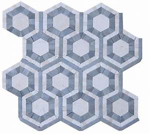 Shop For Cosmos Carrera and Moonstone Hexagon Marble Tile ...