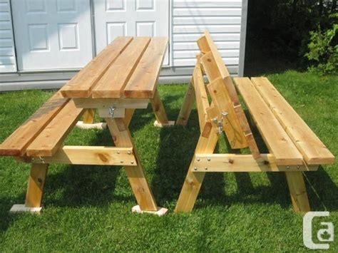 bench  picnic table bench  converts
