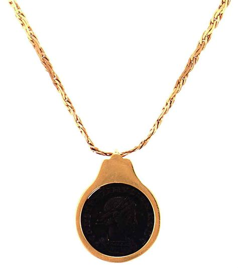 A 585 Gold And 14k Italian Pendant Necklace Christie's