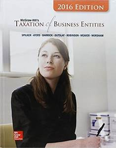 Taxation Of Business Entities  2016 Edition 7th Edition