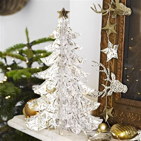 gold christmas tree table decoration by little cupcake