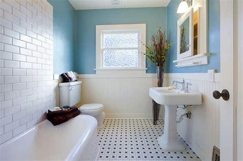 Beadboard And Tile tile floor with bead board subway tile bathroom